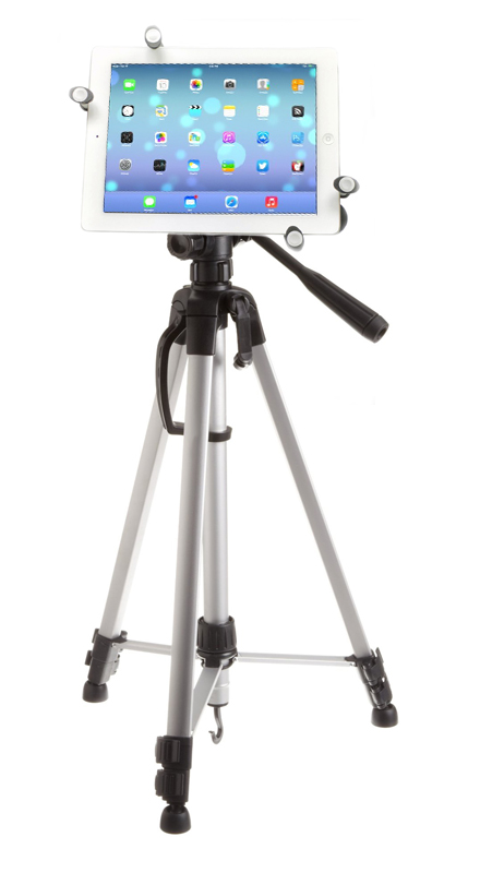 Remora S2 iPad Pro 12.9 / 10.5 / 9.7 Tripod Mount + 60 inch Adjustable Pan Head HD Tripod + Carry Bag Bundle Kit Image